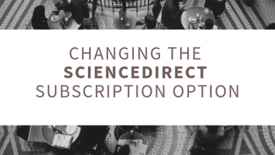 Changing the ScienceDirect subscription option